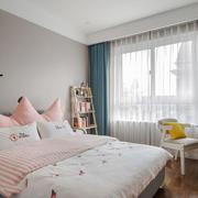 清新甜美简约风格儿童房卧室装修效果图