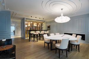 经典欧式风格圆形餐厅吊顶装修效果图
