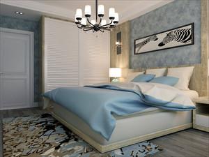 简单温馨简约风格三室两厅室内设计装修效果图