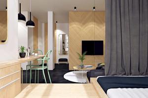 40平米小型单身公寓简约风格装修效果图
