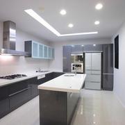 简约风格现代风格大户型开放式厨房吧台装修图