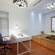 日式风格简约书房榻榻米设计装修效果图
