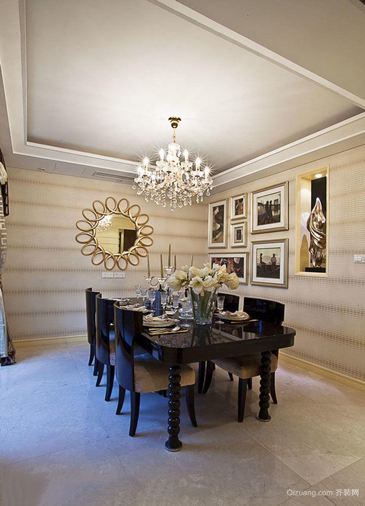 新古典主义风格奢华精美餐厅设计装修图