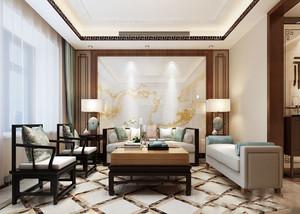 古典高雅中式风格90平米室内设计装修图