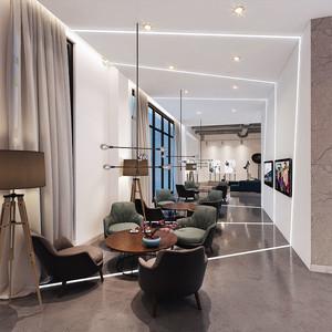 现代风格简单轻松咖啡厅设计装修图