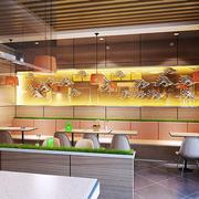 46平米简约风格快餐店设计装修图
