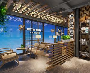 乡村风格主题休闲咖啡厅装修效果图