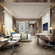 精美现代风格酒店客房设计装修效果图
