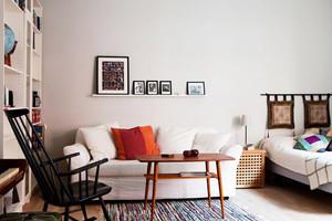 40平米北欧风格简约单身公寓设计装修图