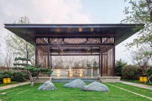 中式风格古典精致别墅花园装修效果图
