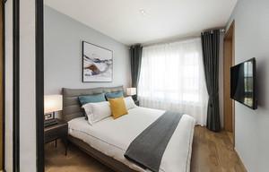 简单舒适现代风格卧室设计装修效果图