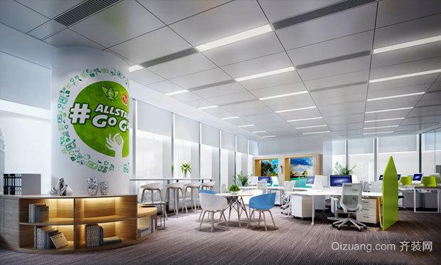 65平米现代简约风格小型办公室装修图