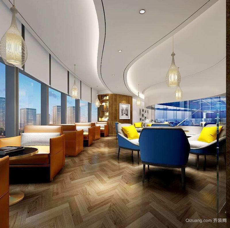 现代风格时尚餐厅装修设计图
