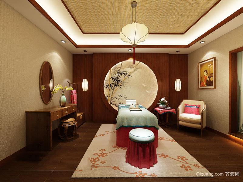古典中式风格美容院包厢装修图