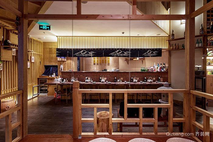 日式风格精美餐厅设计装修效果图