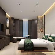 中式风格素雅酒店客房设计装修图
