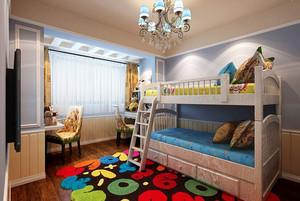 温馨甜美简欧风格女孩儿童房装修效果图