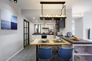 简约风格开放式厨房餐厅设计装修图