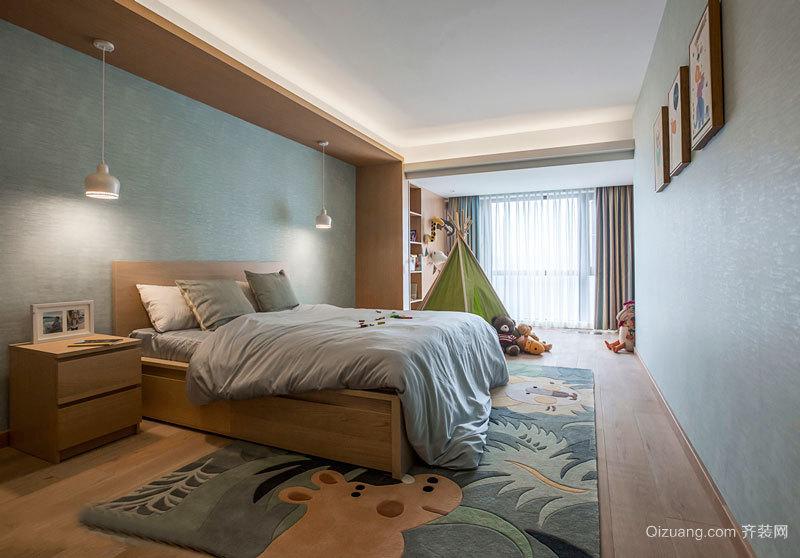 清新自然简约风格儿童房卧室装修效果图