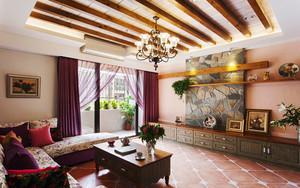 美式田园风格多彩精美大户型室内装修效果图