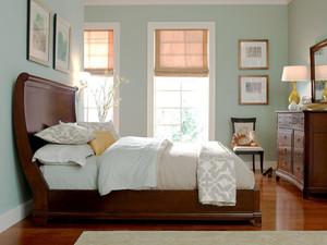 现代美式风格清新小卧室装修效果图