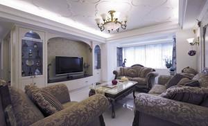 奢华温馨欧式风格两室两厅室内装修效果图
