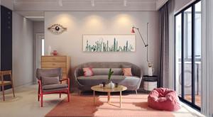 清新甜美粉色一居室室内装修效果图
