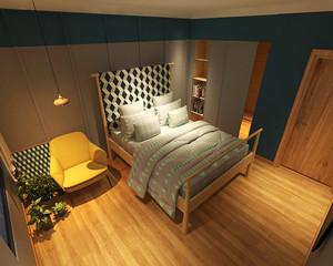 92平米日式风格简约小复式楼室内装修图