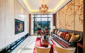 新中式典雅时尚别墅室内设计装修效果图,新中式风格近年来比较受到国人的喜爱,将中式古典与现代风格家居完美的搭配起来,时尚富有文化气息。