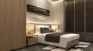 禅意中式风格复式楼室内设计装修效果图