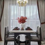 古典简约中式风格餐厅设计实景图