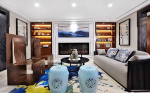 古典雅致中式风格客厅设计装修实景图