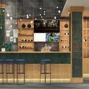乡村风格特色小酒吧装修效果图