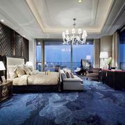 新中式风格精美酒店客房装修图