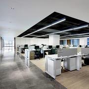 68平米现代简约小型办公室装修图