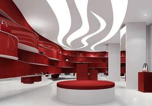 时尚个性现代风格鞋店设计装修图