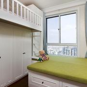 白色精美欧式风格儿童房设计装修图
