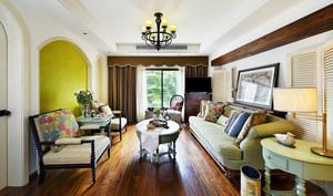 精致典雅美式风格大户型室内装修效果图