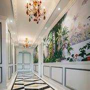 精美欧式风格别墅过道设计装修效果图