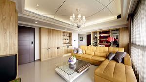 精装现代风格精美134平米三室两厅装修效果图
