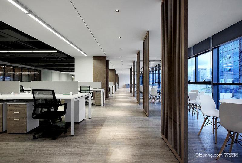 80平米现代风格办公室设计装修图