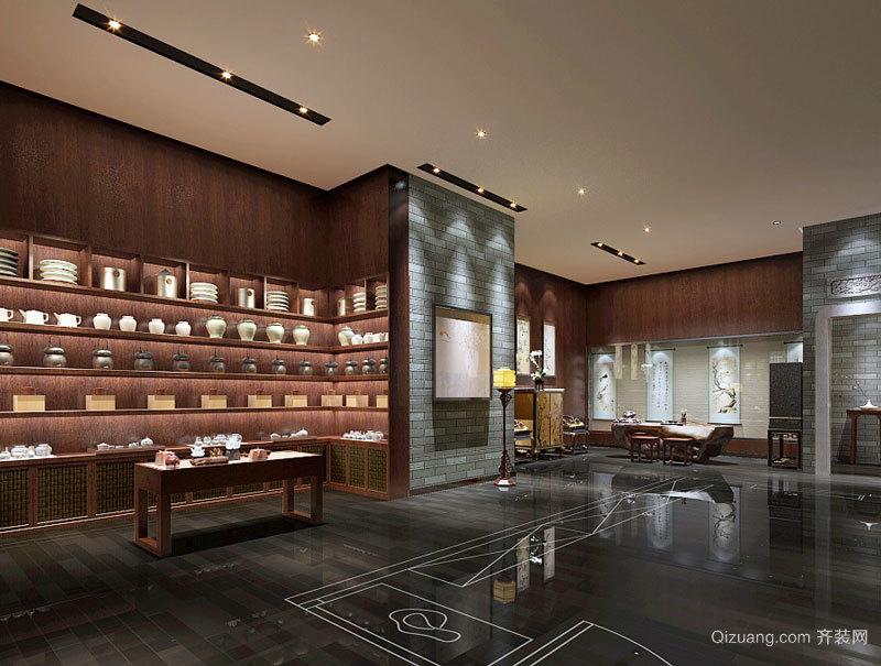 古典雅致中式风格茶楼设计装修图