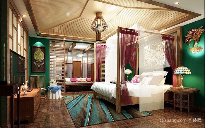 东南亚风格精致酒店客房装修效果图