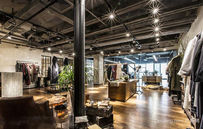 80平米现代风格服装店设计装修图