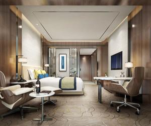 精美现代风格酒店客房设计装修图