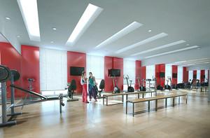 简约风格120平米健身房设计装修图