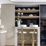现代风格时尚创意家庭吧台设计装修图
