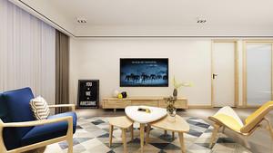 简单温馨北欧风格一居室室内设计装修图