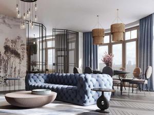 混搭风格精美别墅室内设计装修实景图