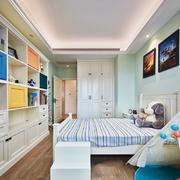 清新简欧风格精美儿童房设计装修图